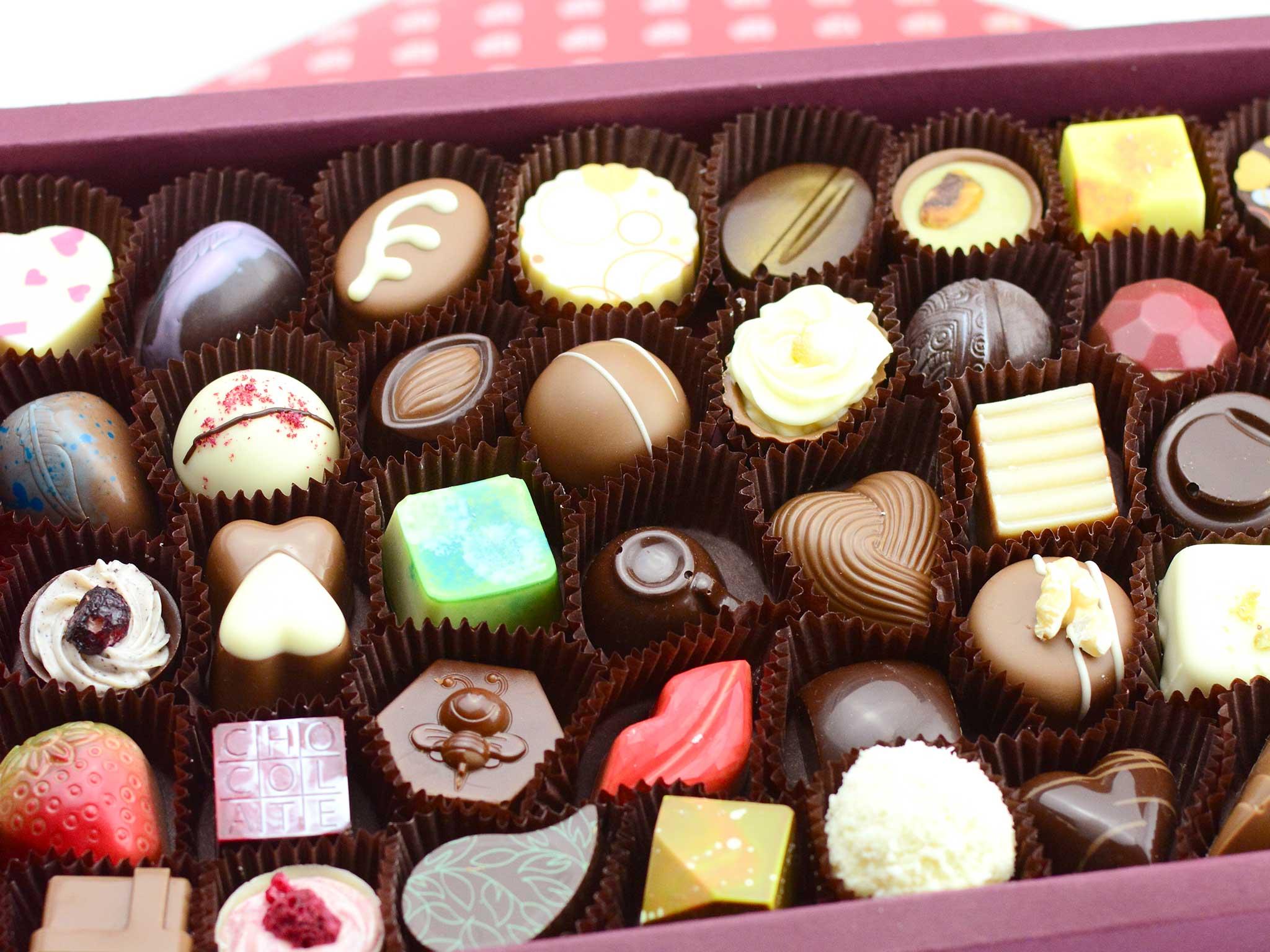 Čokoládové bonboniéry