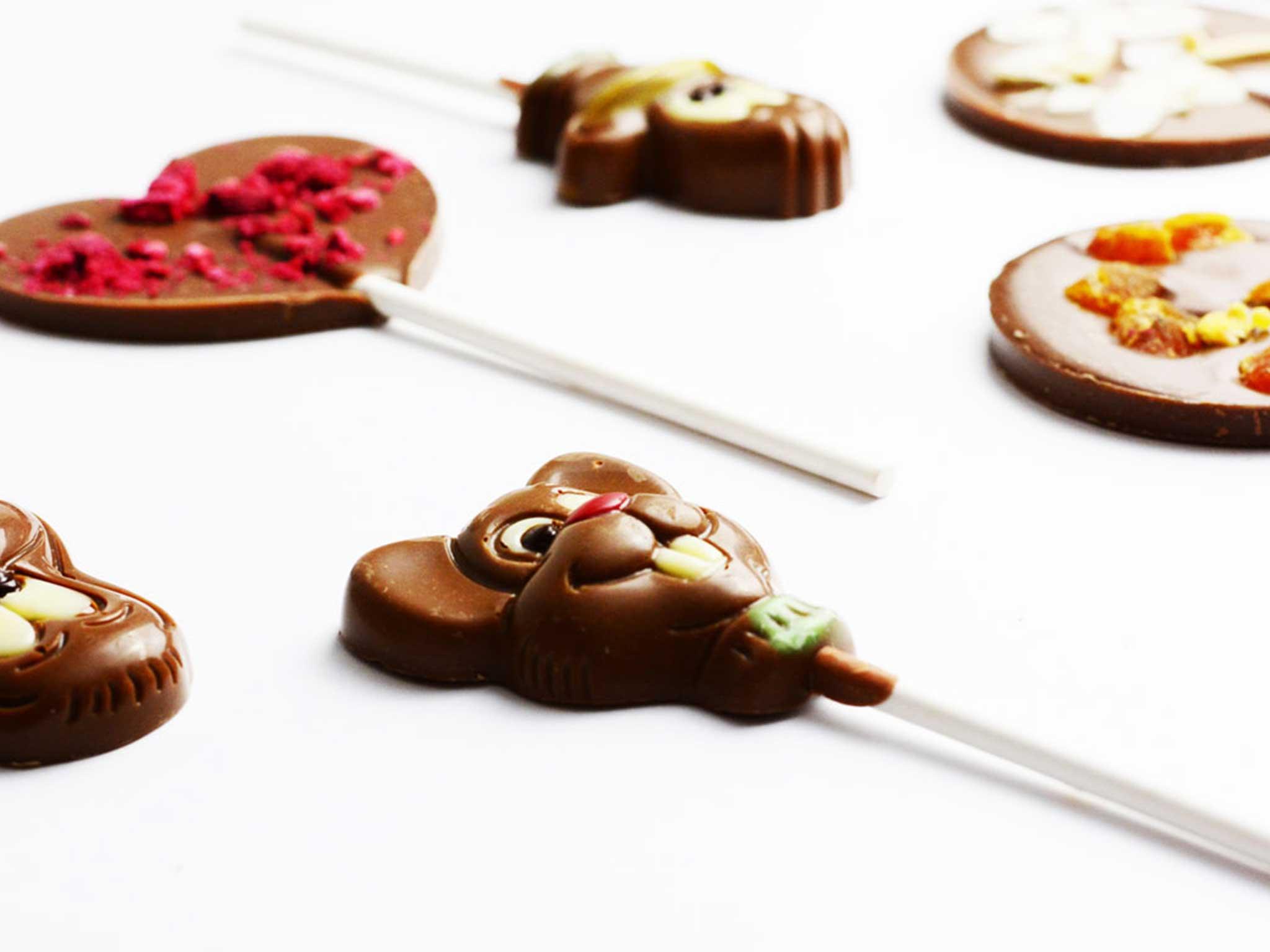 Čokoládové lízanky